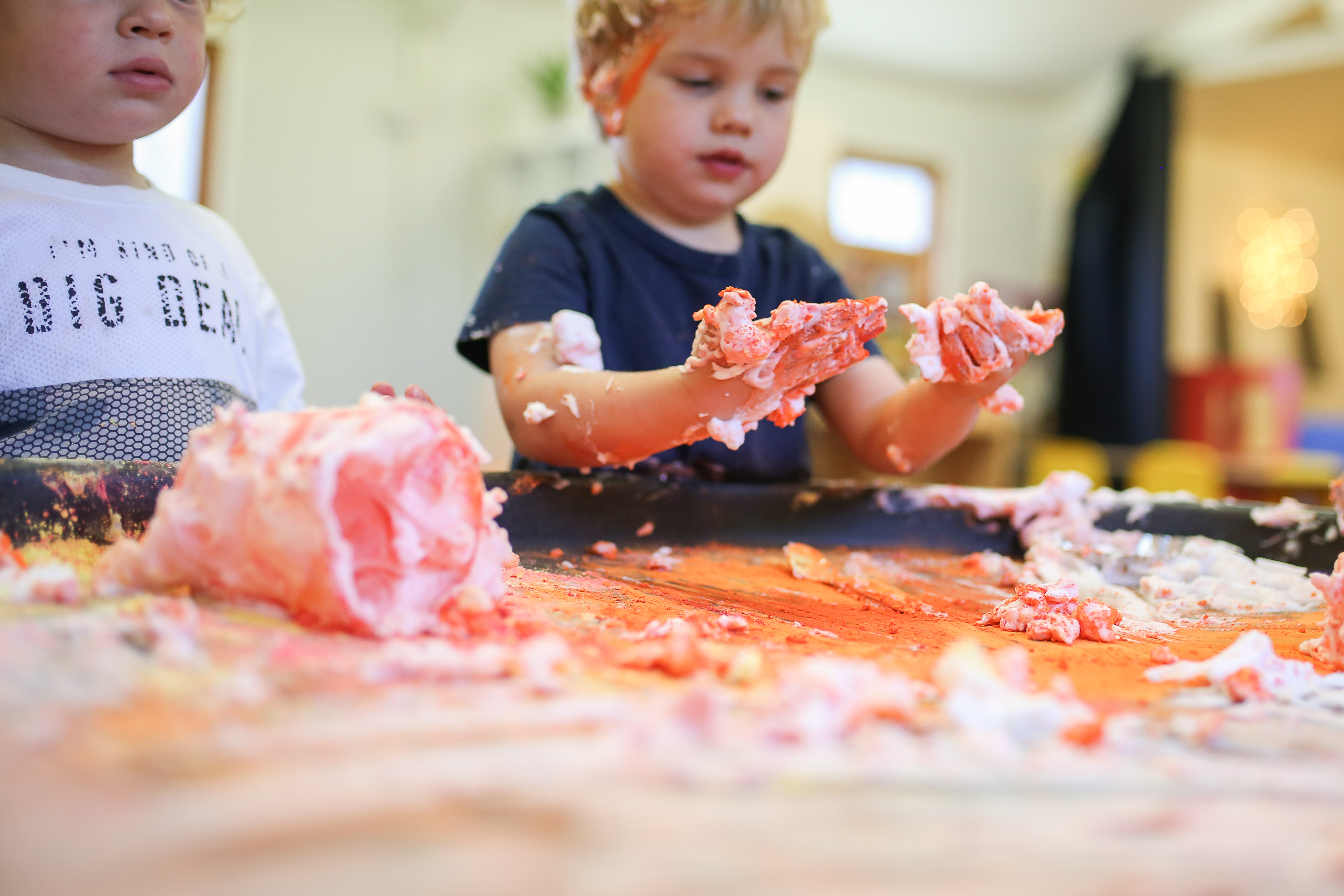 Messy play in the chickenrun